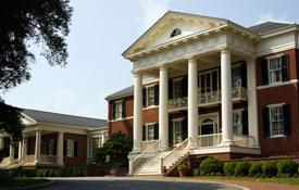 The Miller Center's headquarters, the Faulkner House.