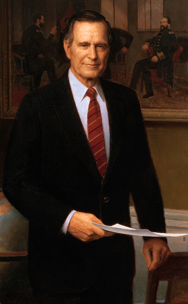 Portrait of George H. W. Bush